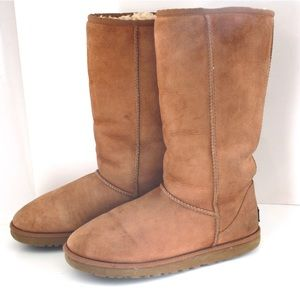 UGG Classic Tall Chestnut Brown Shearling Boot